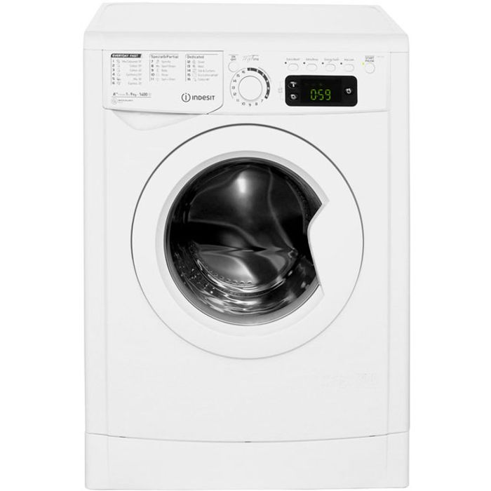 Indesit My Time 9Kg Washing Machine with 1400 Rpm - White - A++ Rated