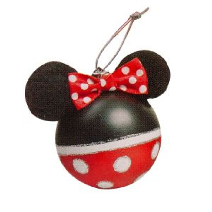 Disney Make Your Own Minnie Christmas Bauble Hanging Plastic Balls