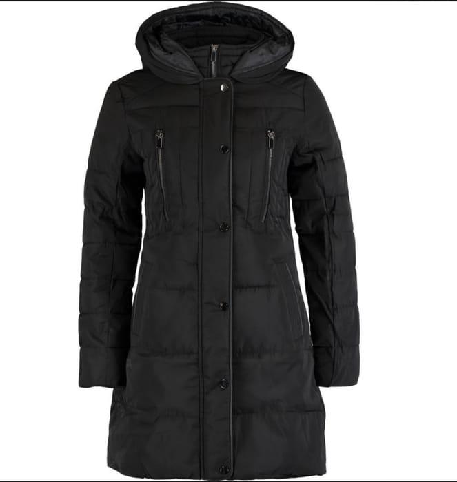 OASIS Black Long Padded Jacket