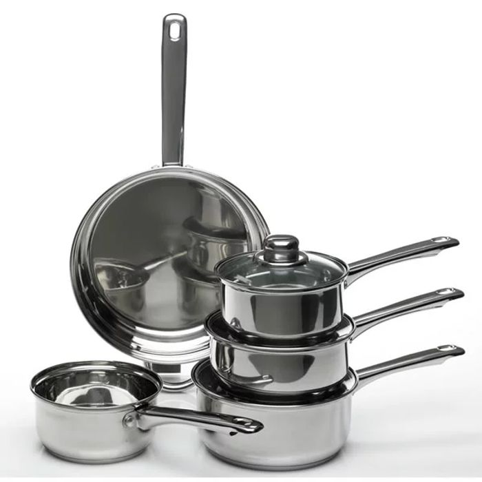 Rollover to Zoom  Wilko Stainless Steel Saucepan Set of 5