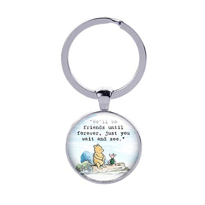 Eleusine Best Friend Keychain Long Distance Friendship Keyring FREE DELIVERY