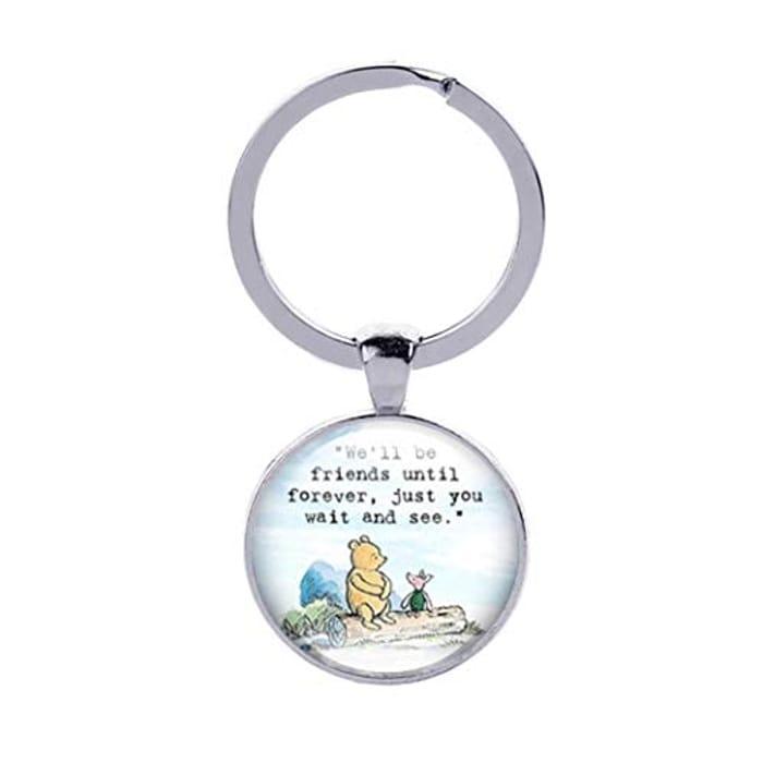 Cheap Eleusine Best Friend Keychain Long Distance Friendship Keyring, Only £1.45