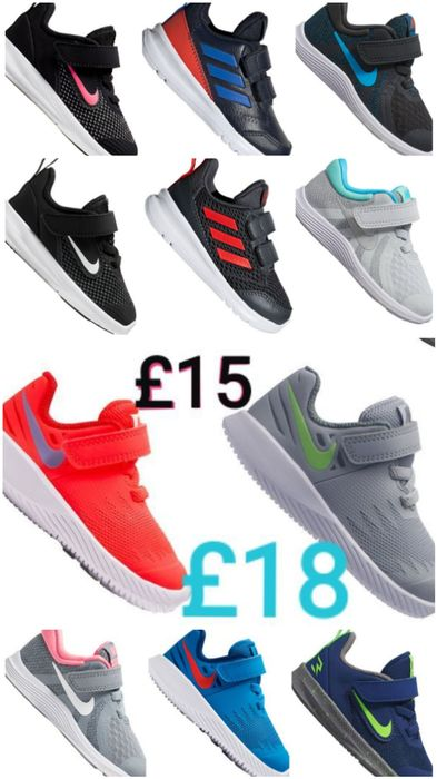 Infant's NIKE + ADIDAS TRAINERS Reduced to £15 + £18.