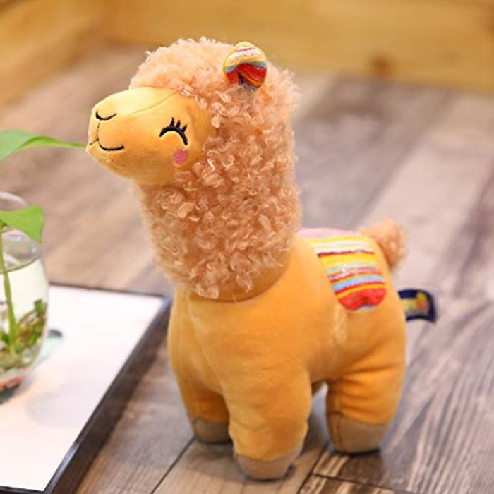 Sqiuxia Smile Stripe Alpaca Llama Plush 25cm FREE DELIVERY