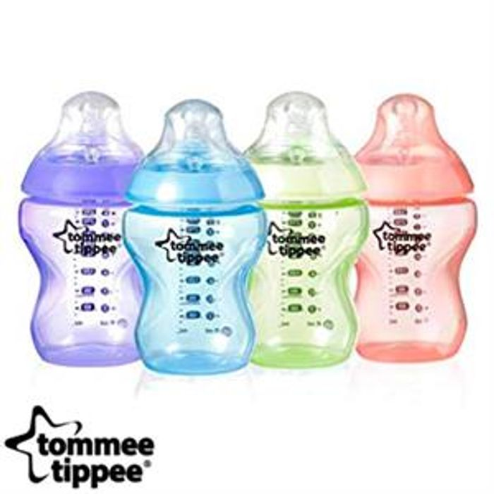 Tommee Tippee Colour My World (4 X 260ml Baby Bottle) - 55% Off!