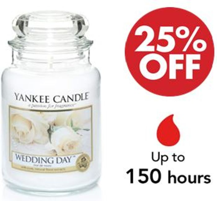 Yankee Candle Large Jar Scented Candle - WEDDING DAY