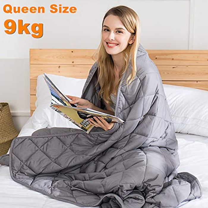 Adult Autism Weighted Blanket Better Sleep & Stress Relief 152x203cm 9kg