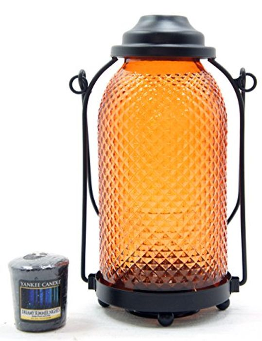Yankee Candle Official Orange Glass Lantern Votive
