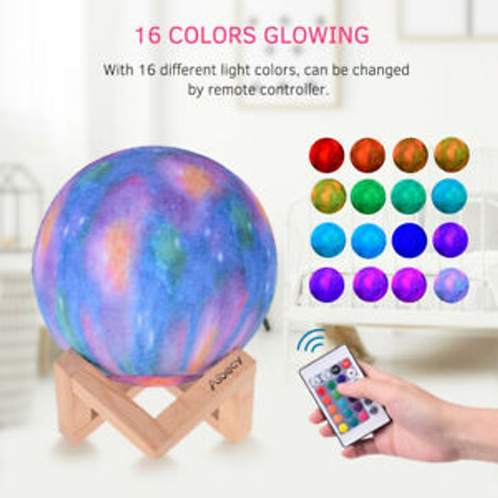 RGB Remote Control Moon Lamp - 38% Off