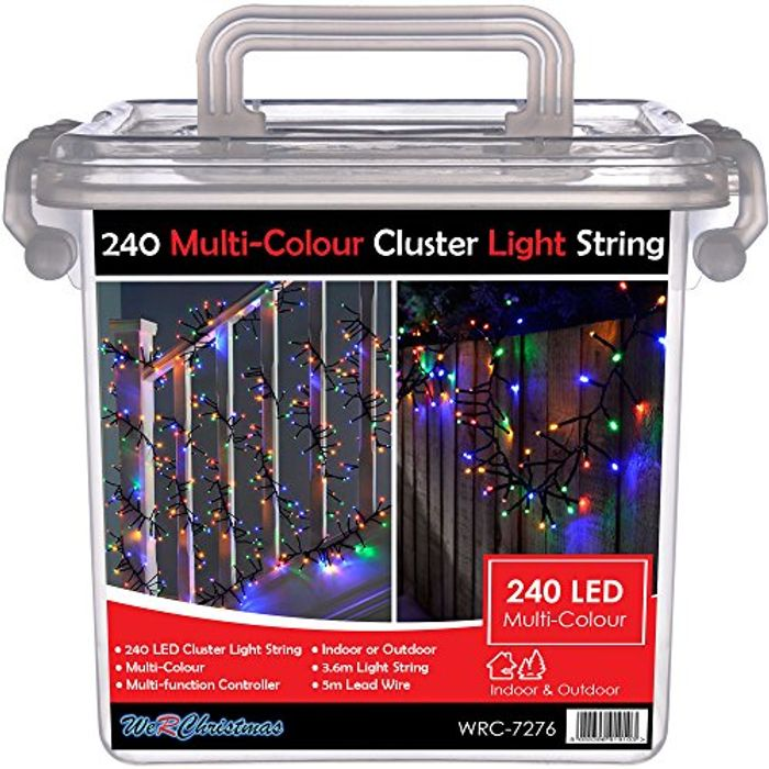 Best Ever Price! WeRChristmas Chasing Cluster Light String with 240-LED, 3.6 M