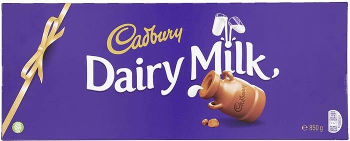Chocoholics - IT'S BACK! 850g Cadbury's Dairy Milk Chocolate Bar (Pantry Item)