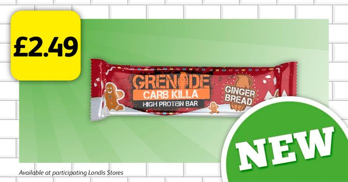Grenade's NEW Ginger Bread Protein Bar for £2.49