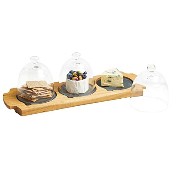 Artesa Mini Cloche Appetiser Serving Set, 37 X 12 X 12.5 Cm