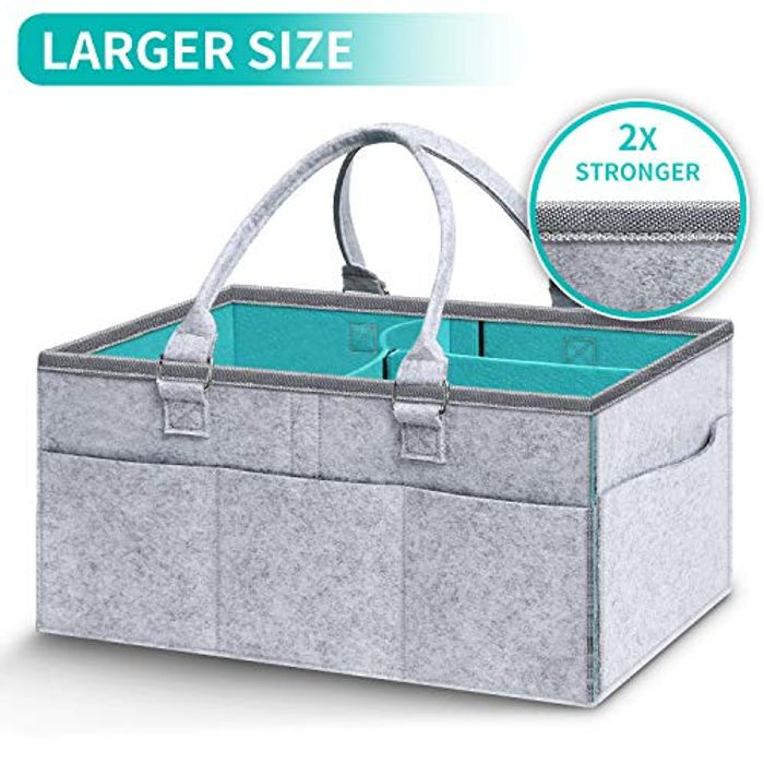 Baby Diaper Caddy Organizer | Baby Gift Basket for Baby Girl Boy