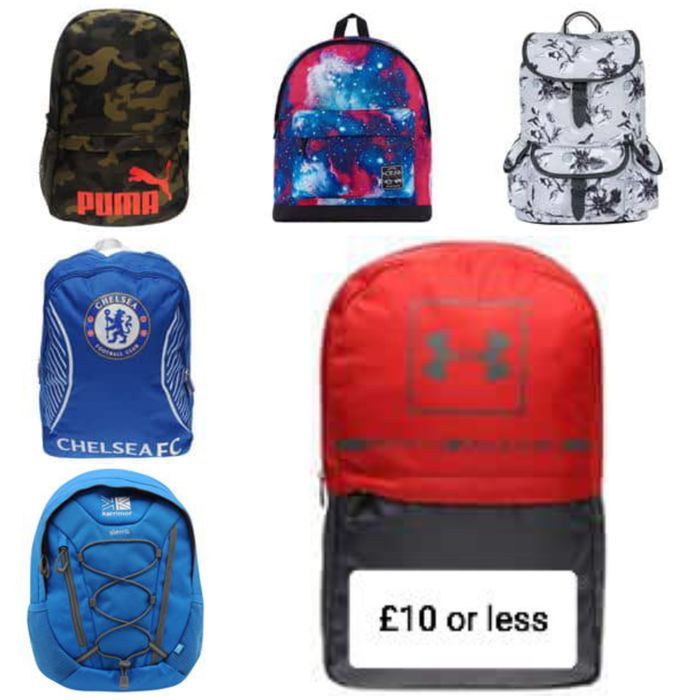 147 Backpacks and Rucksacks £10 or Less - Adult + Kids.