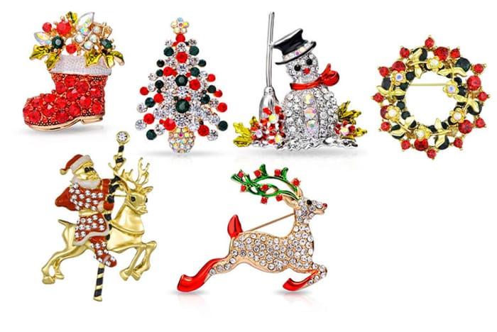 Philip Jones Christmas Brooch 6 Designs - Better Than HALF PRICE!