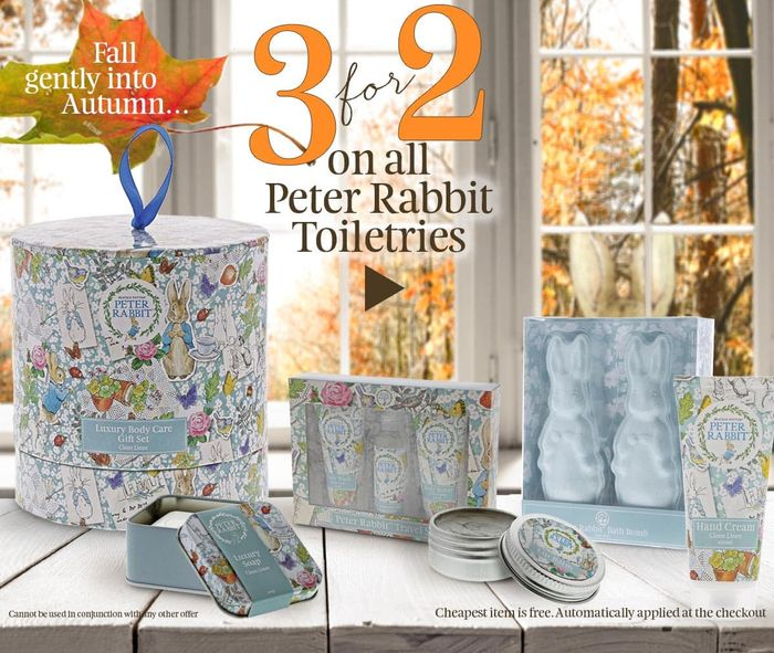 Beatrix Potter Gifts - 3 for 2 on All Peter Rabbit Toiletries