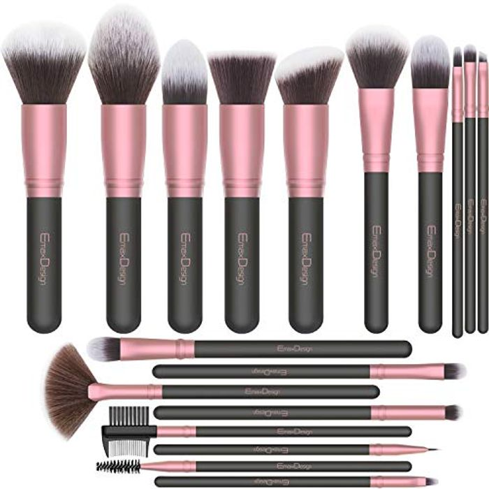 50%off EmaxDesign Makeup Brushes,18 Pcs Professional Makeup Brush Set £5.99