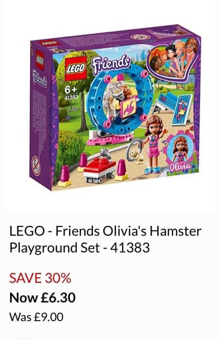 LEGO - Friends Olivia's Hamster Playground Set - 41383