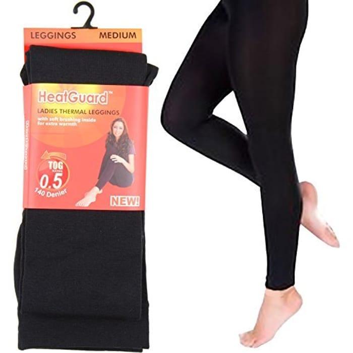Ladies Heatguard Black Thermal Legging Tights Size M