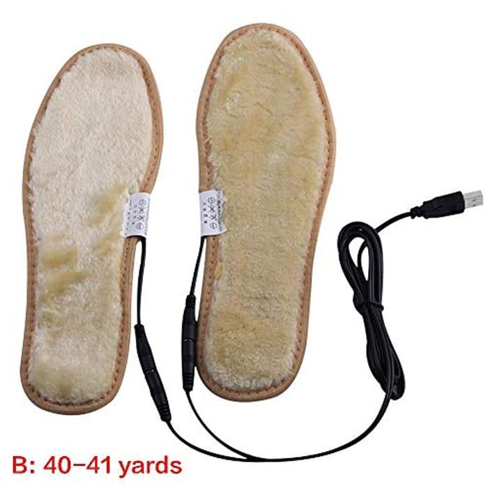 Lembeauty USB Heated Insole Reusable Fleece Lined Warm Sole FREE DELIVERY