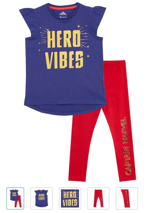 Cheap Captain Marvel Top & Leggings Set with 62% Discount!