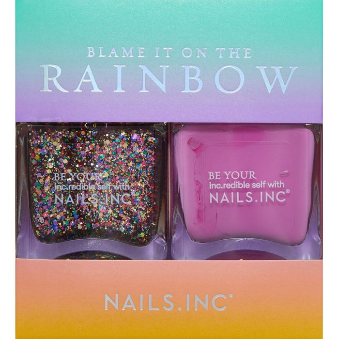 Cheap NAILS INC Blame It on the Rainbow Nail Polish Duo - Save £3.01!