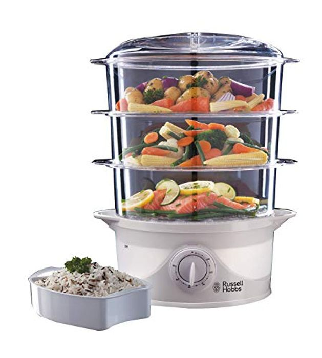 Cheap Russell Hobbs 21140 3-Tier Food Steamer with 50% Discount - Great buy!