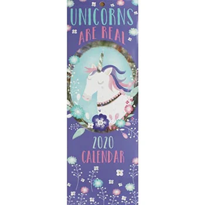 Unicorns Are Real 2020 Slim Calendar 80% OFF