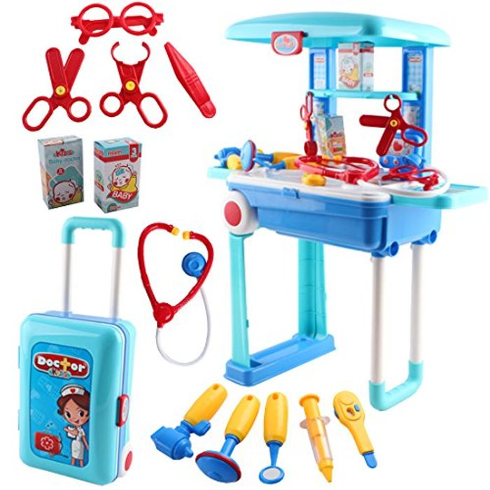 2-in-1 Portable Medical Center Hospital Role Play Set - 42% Off!