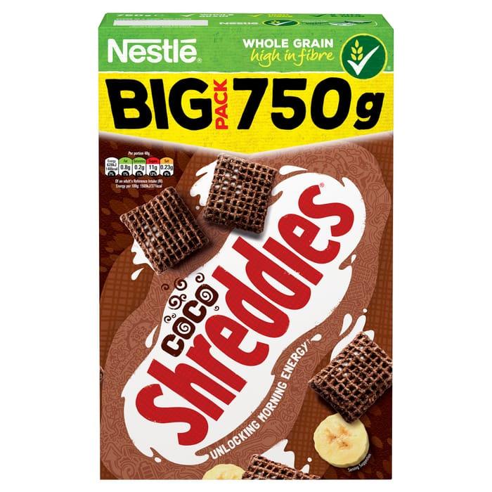 Nestle Coco Shreddies Cereal 750G HALF PRICE