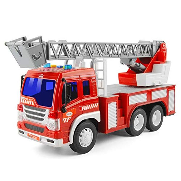 GizmoVine Toys for 2 Years Old Boys, Friction Powered Fire Engine - Save £6!