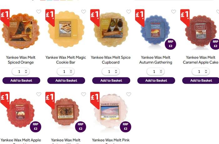 Yankee Wax Melts *Choice of 8 ALL £1 *SEE PICS