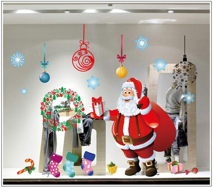 60cm X 90cm Christmas Wall Stickers Set FREE DELIVERY