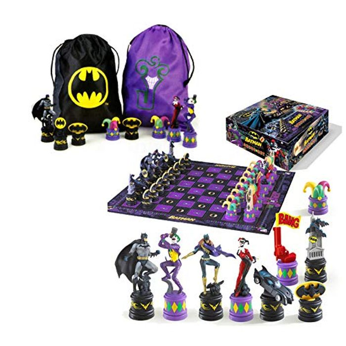 The Noble Collection the Batman Chess Set ( Dark Knight vs Joker ) - 62% Off!