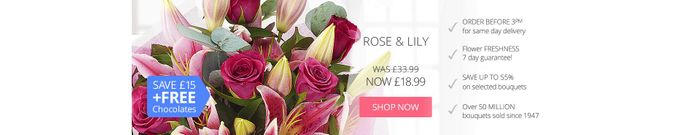 15% off Orders at E Florist