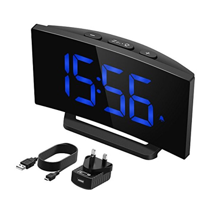 Mpow Digital Alarm Clock, Digital LED Clock Bedside Mains Powered - Save £6!
