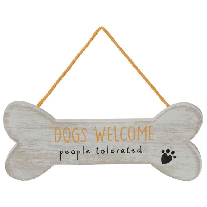 Dog Hanging Plaque - Dogs Welcome