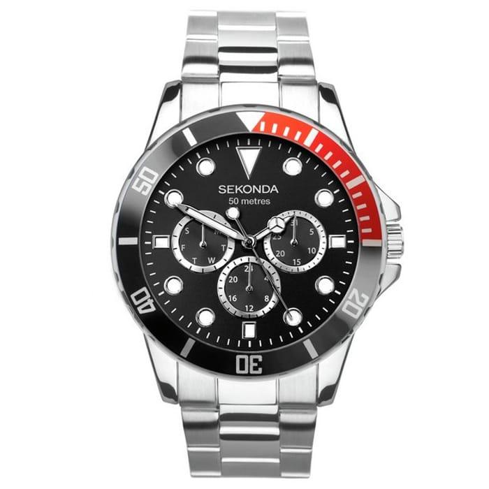 Sekonda Men's Multi-Function Stainless Steel Bracelet Watch