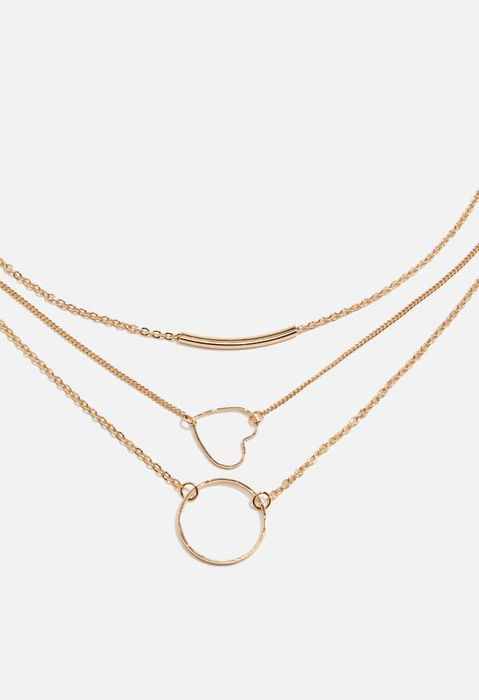 Layered Heart Necklace at Justfab