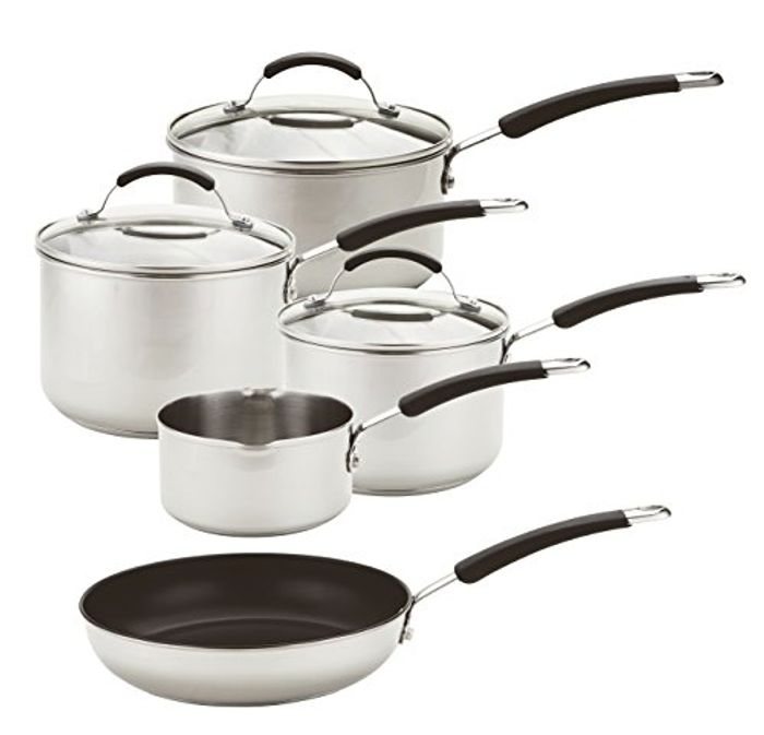 Meyer Induction Milkpan, Saucepans and Frypan Set of 5 - 10 Year Guarante