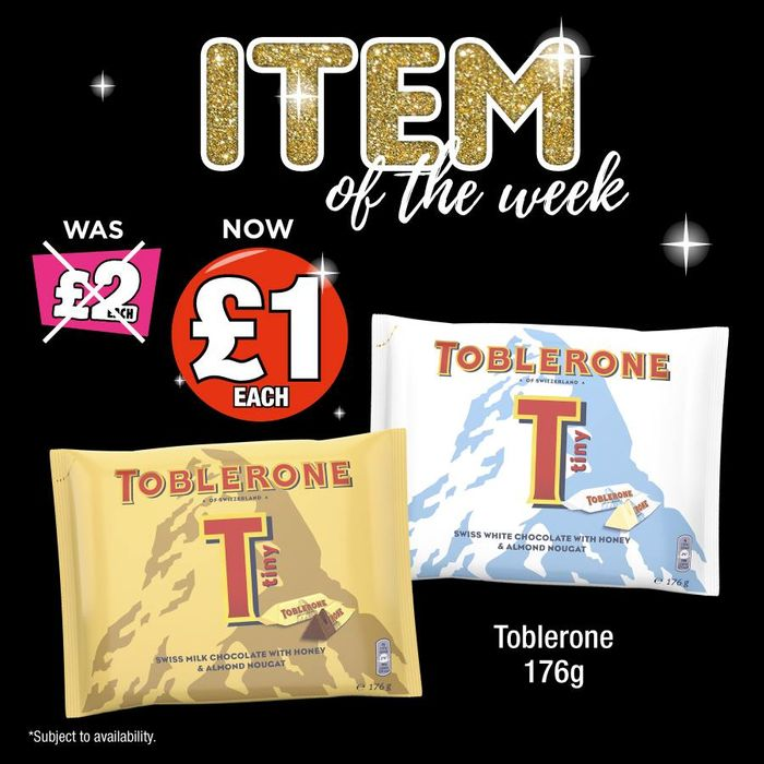 Item of the Week Toblerone Tiny's £1 Each!