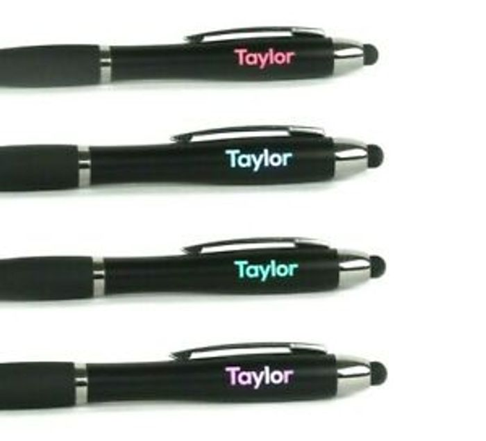 Personalised Flashing Light up Pen, Any Name FREE Postage
