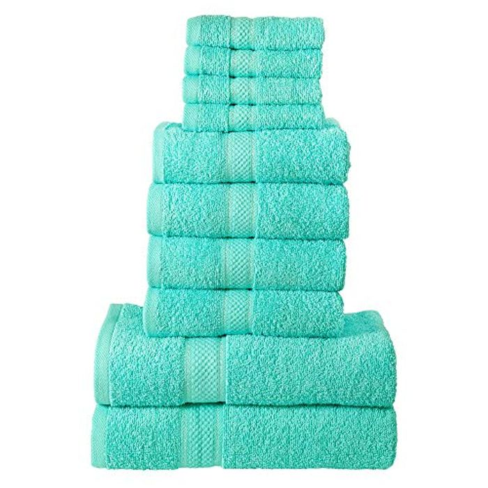 Best Ever Price! Todd Linens 10-Piece Bale Bath Towel Gift Set FREE DELIVERY