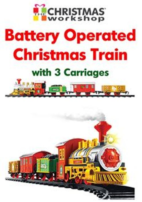 Christmas Tree Train Set - Goes Around Under Your Christmas Tree!