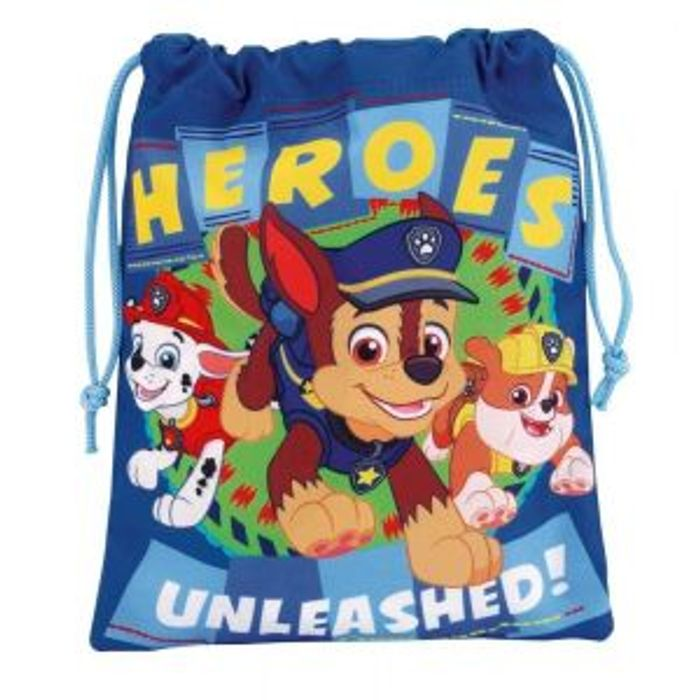 Paw Patrol Official Drawstring Bag School Snack Lunch Backpack
