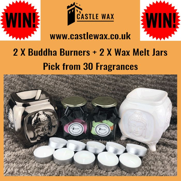 Win 2 Buddha Burners & 2 Heart Wax Melts Jars!