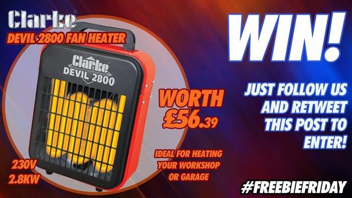 Win a Clarke Devil 2800 Electric Heater!