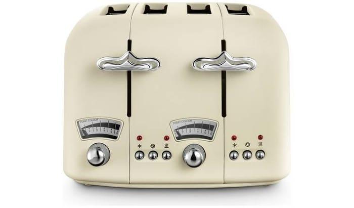 Cheap De'Longhi Argento Flora 4 Slice Toaster Jasmine Beige Only £35