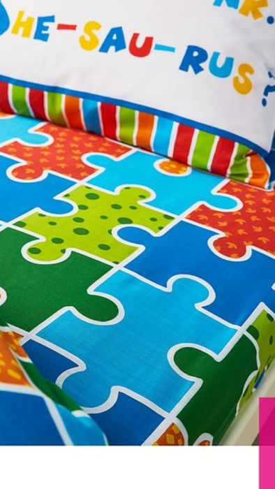 Dino-Saw Single Fitted Sheet